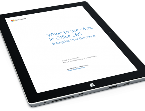 New Free Whitepaper: When To Use What In Office 365