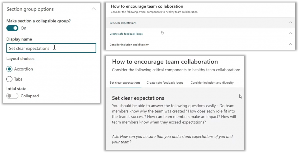 Using section groups in SharePoint