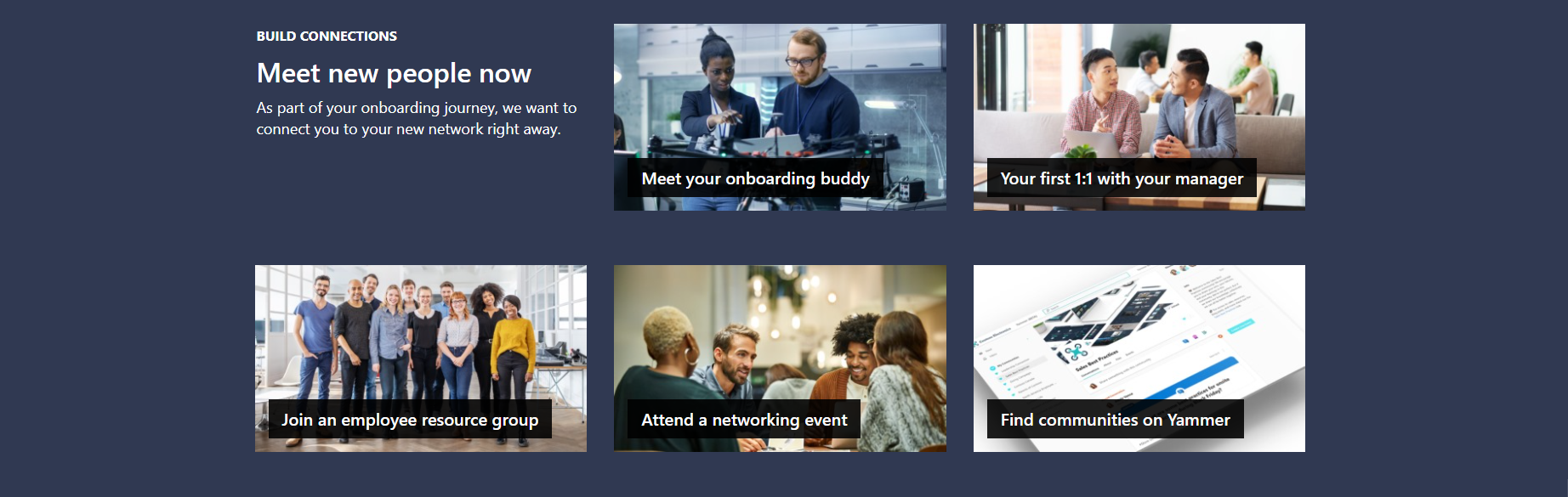 Virtual Employee Onboarding Site Layout Example 3