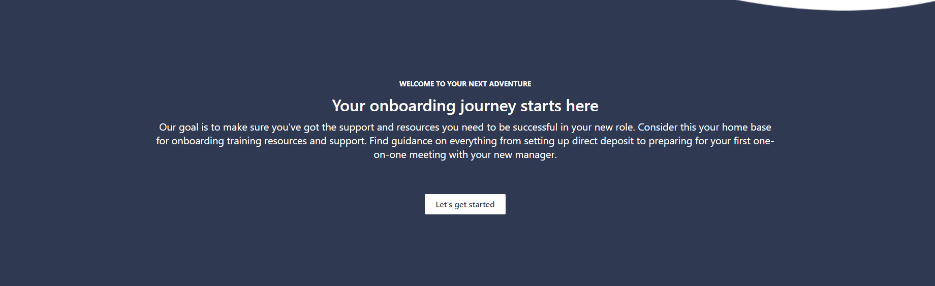 Employee Onboarding Site Layout Example 8