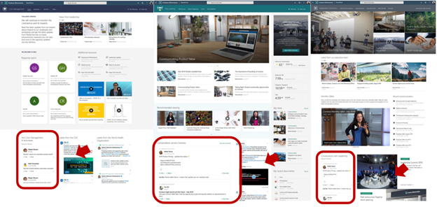 yammer web part variations