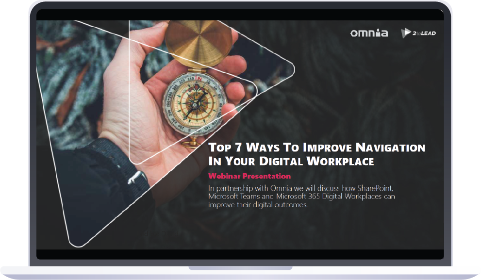 Webinar with 2toLead and Omnia