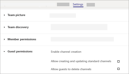 Guest Permissions in Microsoft Teams